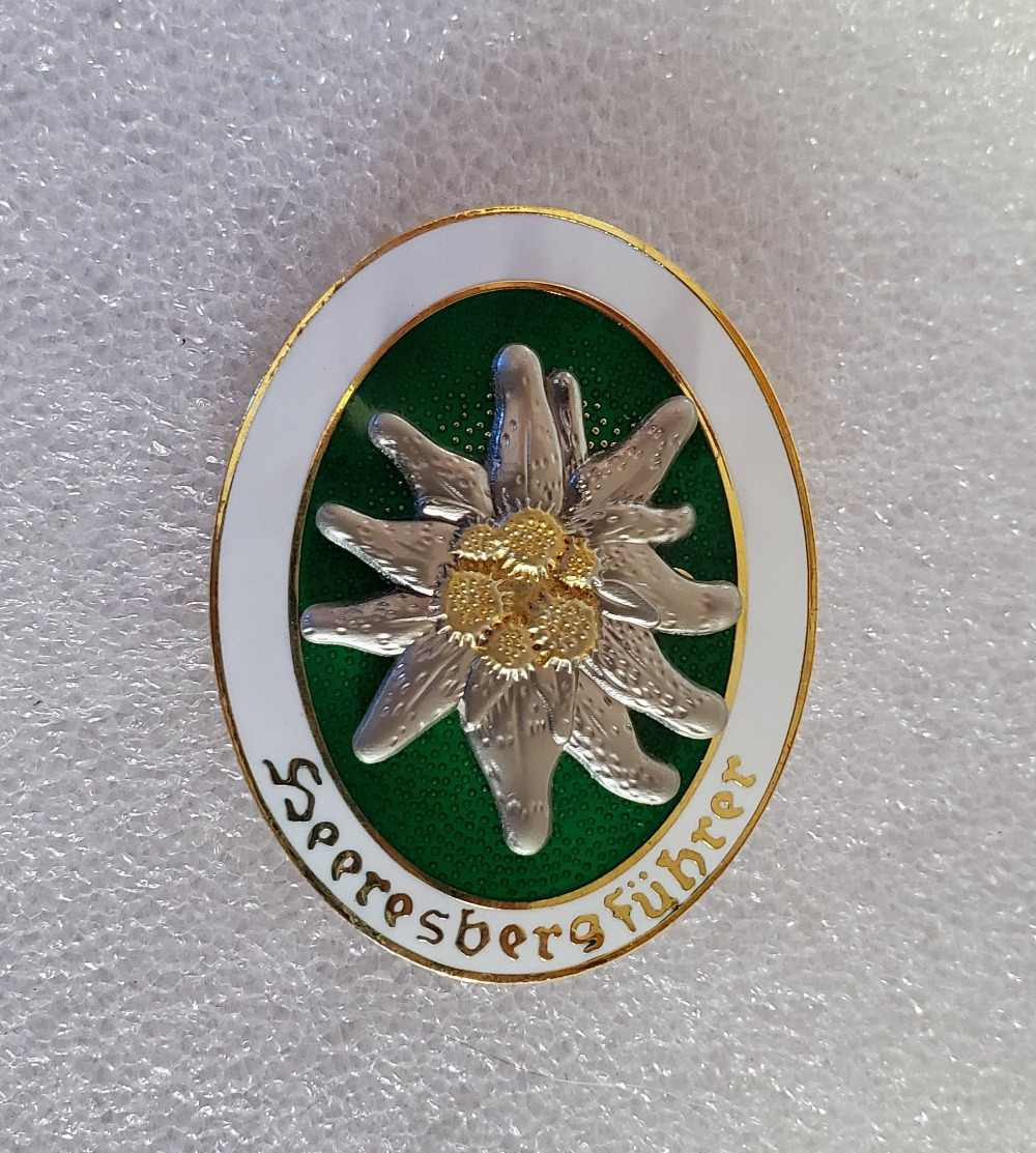 Kualitas WW2 Bahasa Jerman Medali Tentara Elit Edelweiss Mountain Troops Lencana