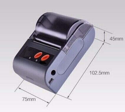 Мини тепловой мобильный принтер, bluetooth, android принтер поддерживает Android телефона и планшетного/bluetooth + USB + serial