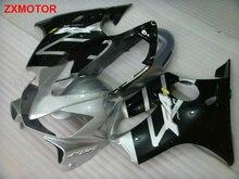 100% подходит для Литья Под Давлением обтекатели для Honda CBR600 F4I 04 05 06 07 серебро черный обтекателя комплект CBR 600 F4I 2004-2007 PU11