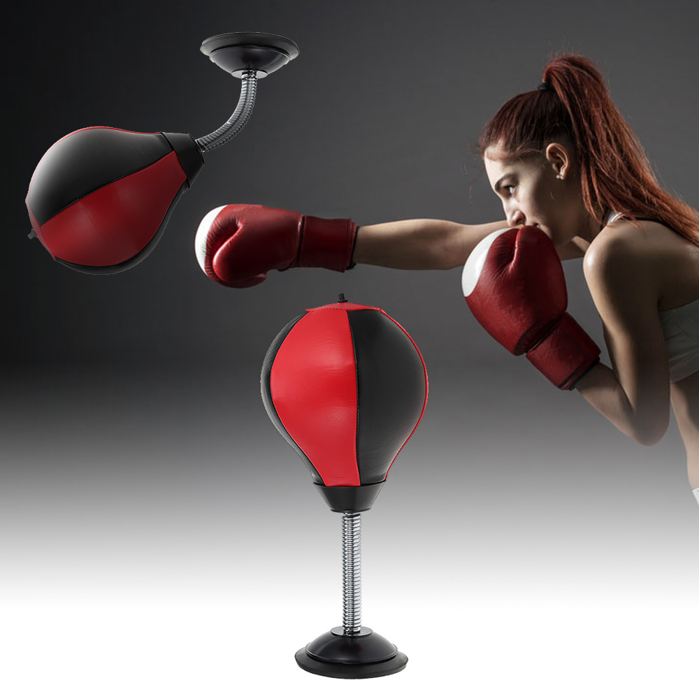 2018 New Arrival Stress Buster Desktop Punching Ball Heavy Duty Composition Relieve Stress Sucker Punch Desktop Punching Bag