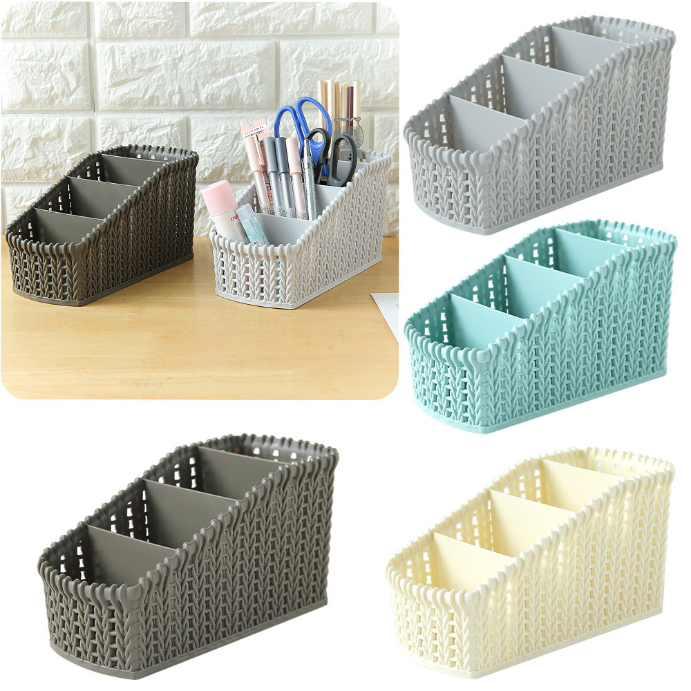 Four grid Plastic Makeup Organizer Cosmetics Storage