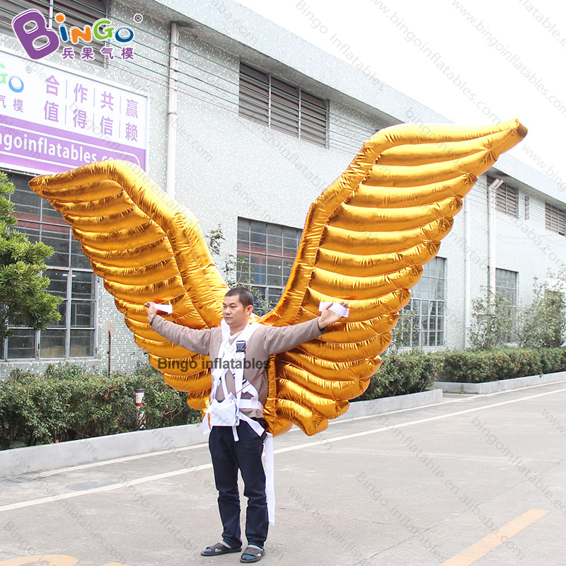 Personalized 3.2x2 Meters Inflatable Wings Costume / Inflatable Golden Wings Costume / Inflatable Wings Toys Delicacies Loved By All