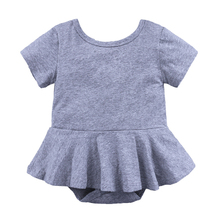 summer baby girls bodysuit pure cotton female short sleeved