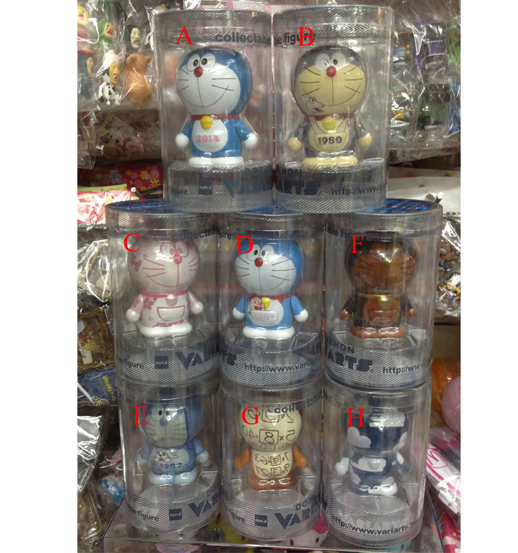8pcs/lot Free Shipping Anime Cartoon Doraemon 100th Anniversary PVC Action Figure Toy DRFG004 6pcs set anime cartoon cute egg doraemon mini pvc action figure toys dolls 4 6cm of079