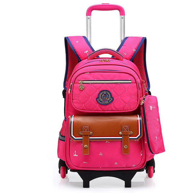 98a2108a4292 Children School Bags Mochilas Kids Backpacks With 3 Wheels Trolley Luggage  For Girls Boys backpack wholesale
