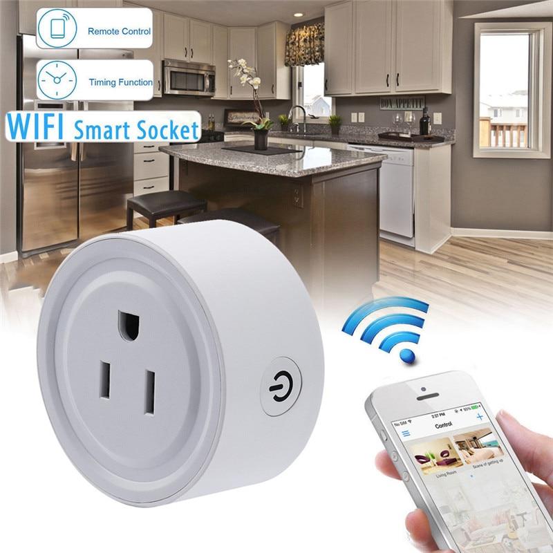 imágenes para 2200 W Wireless WiFi Repetidor de Control Remoto Del Teléfono Inteligente EE. UU. AC Plug Power Socket Interruptor de Estado de Seguimiento Práctico