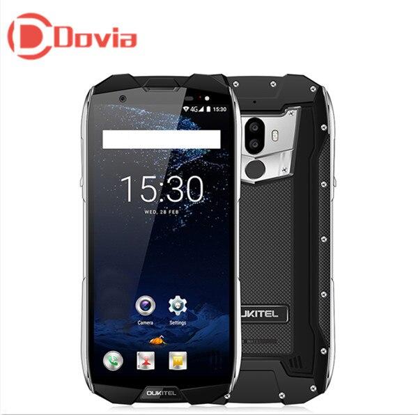 OUKITEL WP5000 IP68 Étanche 4g Mobile Téléphone 5.7 Android 7.1 Octa base 2.5 ghz 6 gb + 64 gb Double Cames Arrière D'empreintes Digitales Smartphone