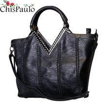 CHISPAULO Woman Bag 2019 Designer Handbags High Quality Cowhide women's Genuine Leather Handbags Vintage Women Messenger Bag V52(China)