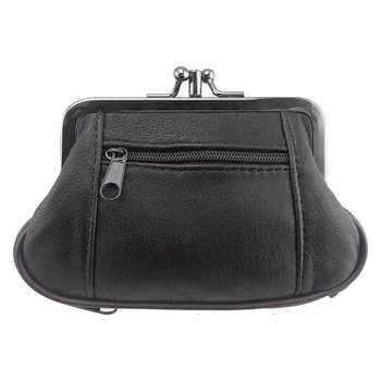 Women's Exclusive Genuine Leather Coin Purse Bags and Wallets Hot Promotions New Arrivals Women's Wallets Color: 023black