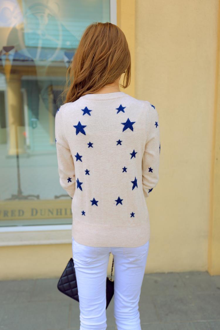 Europe All-match Female Stars Cashmere Cardigan Knit Shirt Fashion Leisure Pure Cashmere wool Sweater Coat