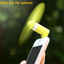 Mini USB Fan CellPhone USB Gadget Fans 8 pin usb jack interface Ventilador For Apple IPhone 5 5s 6 6s 7 plus usbfan ventilateur