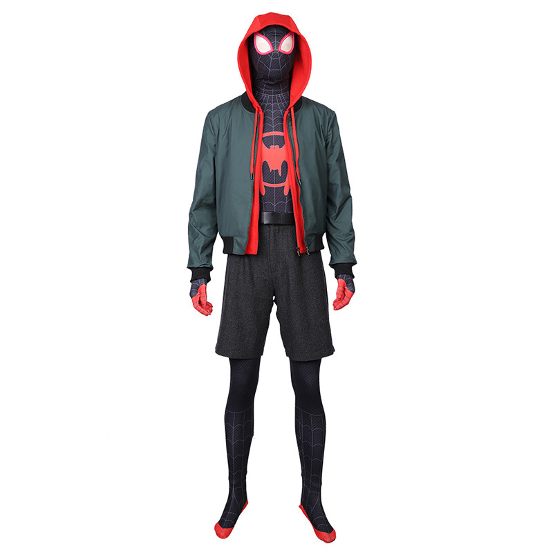 Miles Morales Cosplay Costume Spider Full Set Man Cosplay for Show Stage