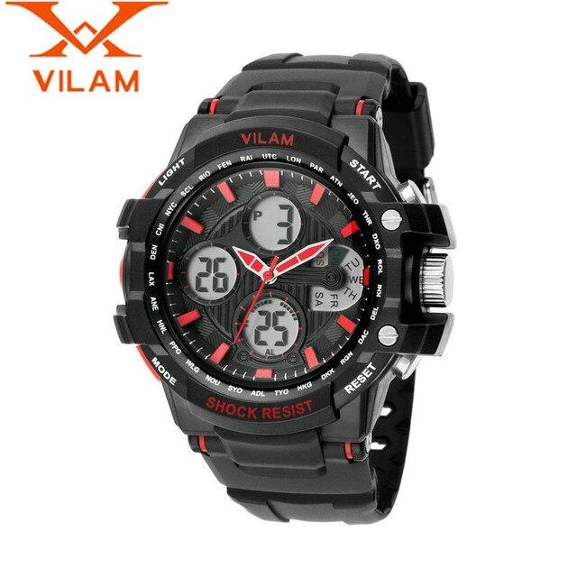 VILAM 2017 Fashion Relogio Masculino Men's Week Quartz Watch Rubber Wristwatch Sport Watches  Gift Free Ship