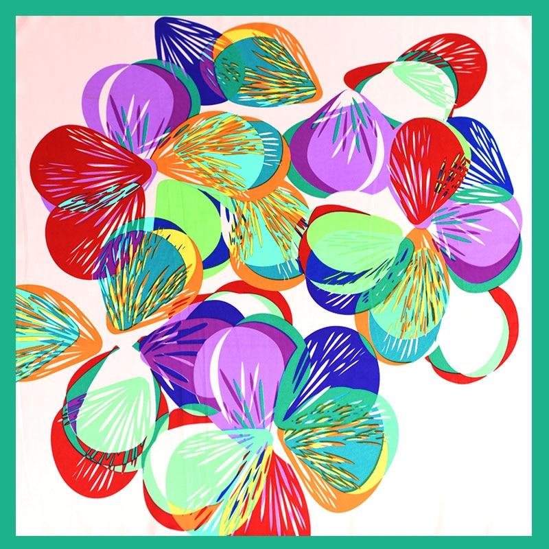 Silk Feeling Square Scarf Women Floral Scarf Flower Print Silk Fashion Scarves 2018 Mini Bandana for Office Lady Gift