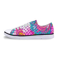2016 New Fashion Low Top Canvas Shoes For Women Raindrop Printing Casual Shoes Outdoors Lover Flats