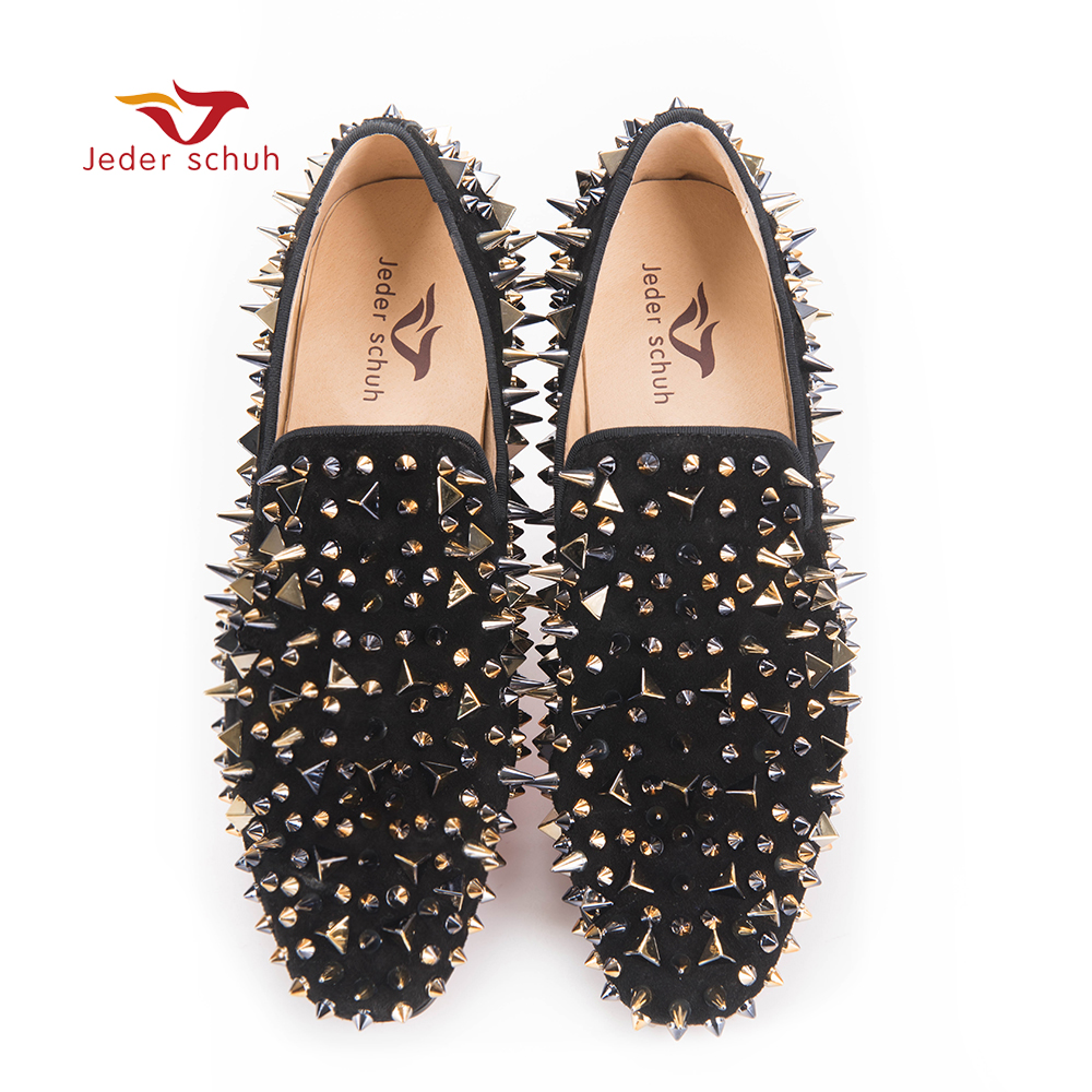 мужчины шип обувь черный