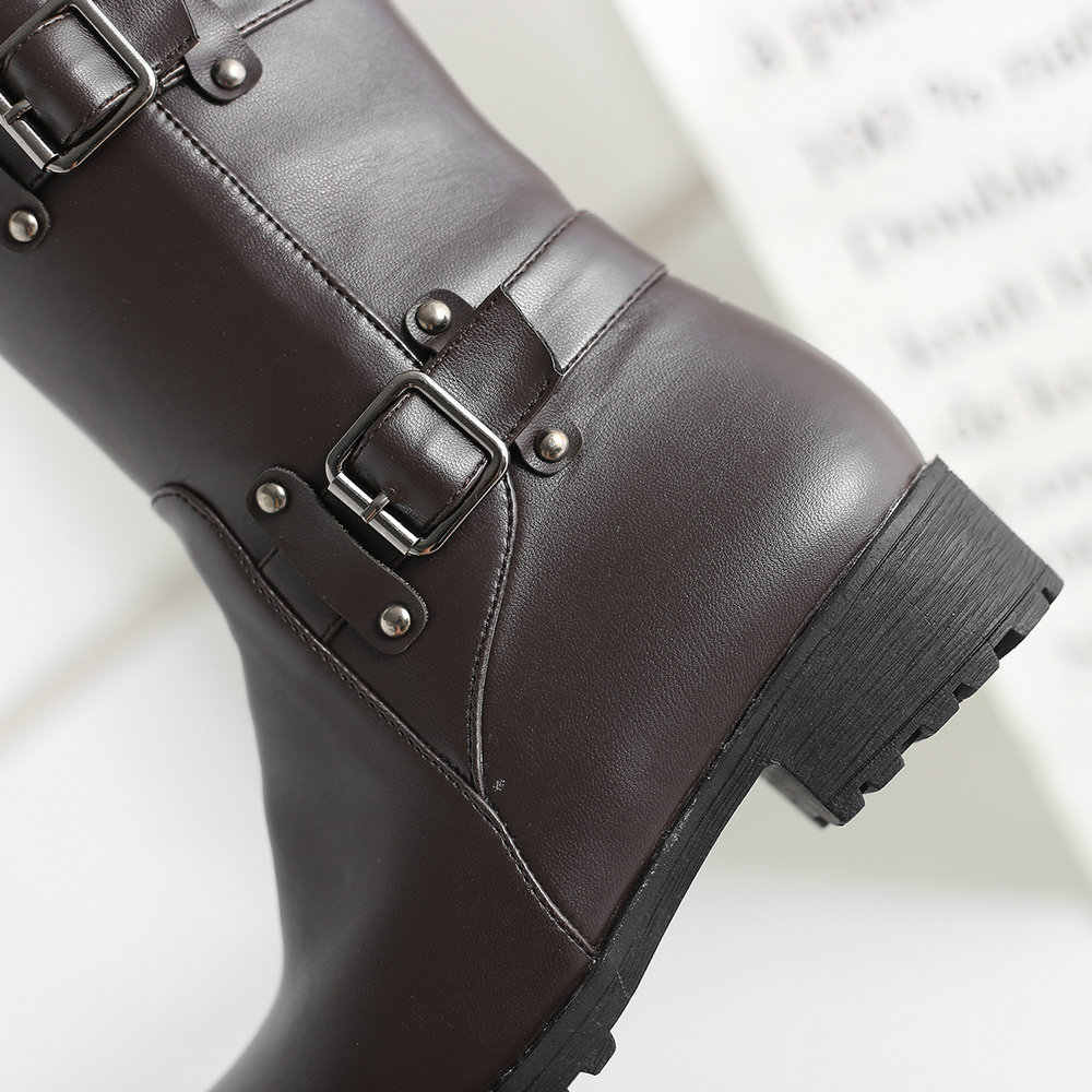 Kadın rahat düz topuk diz yüksek çizmeler Pu deri moda çizmeler fermuar bahar sonbahar bayan ayakkabı artı boyutu 43 2018 yeni