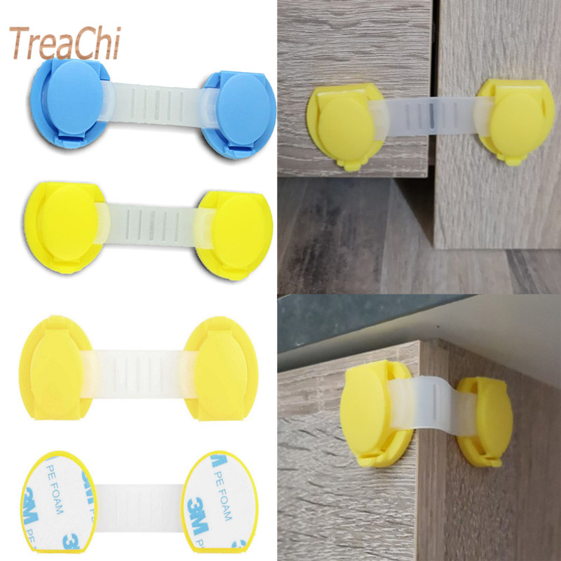 Tenske House Lc Hot 2pcs/lot Baby Safety Drawer ABS Locks Baby Safety Door Drawer Lock Dropshipping