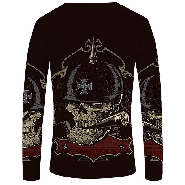 Skull Punk Gothic Funny T Shirts