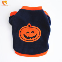Shake Cashmere Cartoon Dog Sweater Autumn Warm Halloween Pumpkin Pattern Dog Clothes Pet Coat Jacket For Small Dogs Chihuahua(China)