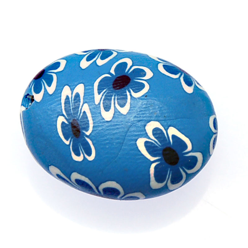 Beads & Jewelry Making Purposeful Pure Handmade Flower Fimo Beads 26x22x13mm Oval Blue Fimo Polymer Clay Loose Charm Beads For Diy Jewelry Making Accessories Cheap Sales