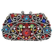 Neue luxus gesetzte schneckenwelle kristall blinkende hand tasche elegante und bunte damen abendessen damen taschen Fashion cocktail party tasche Q70