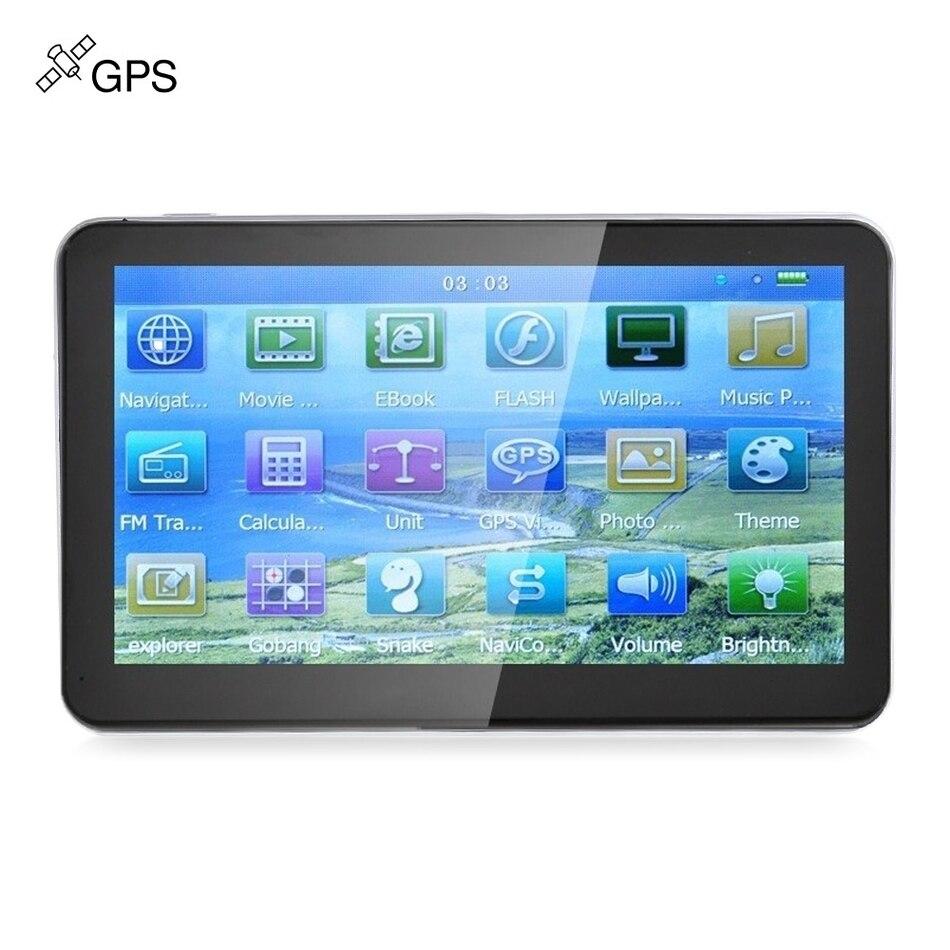 704 7 pollice Truck Auto Navigatore di Navigazione GPS Win CE Media Tek MT3351C Touch Screen 800x480 Multi-media Player con Trasporto mappe