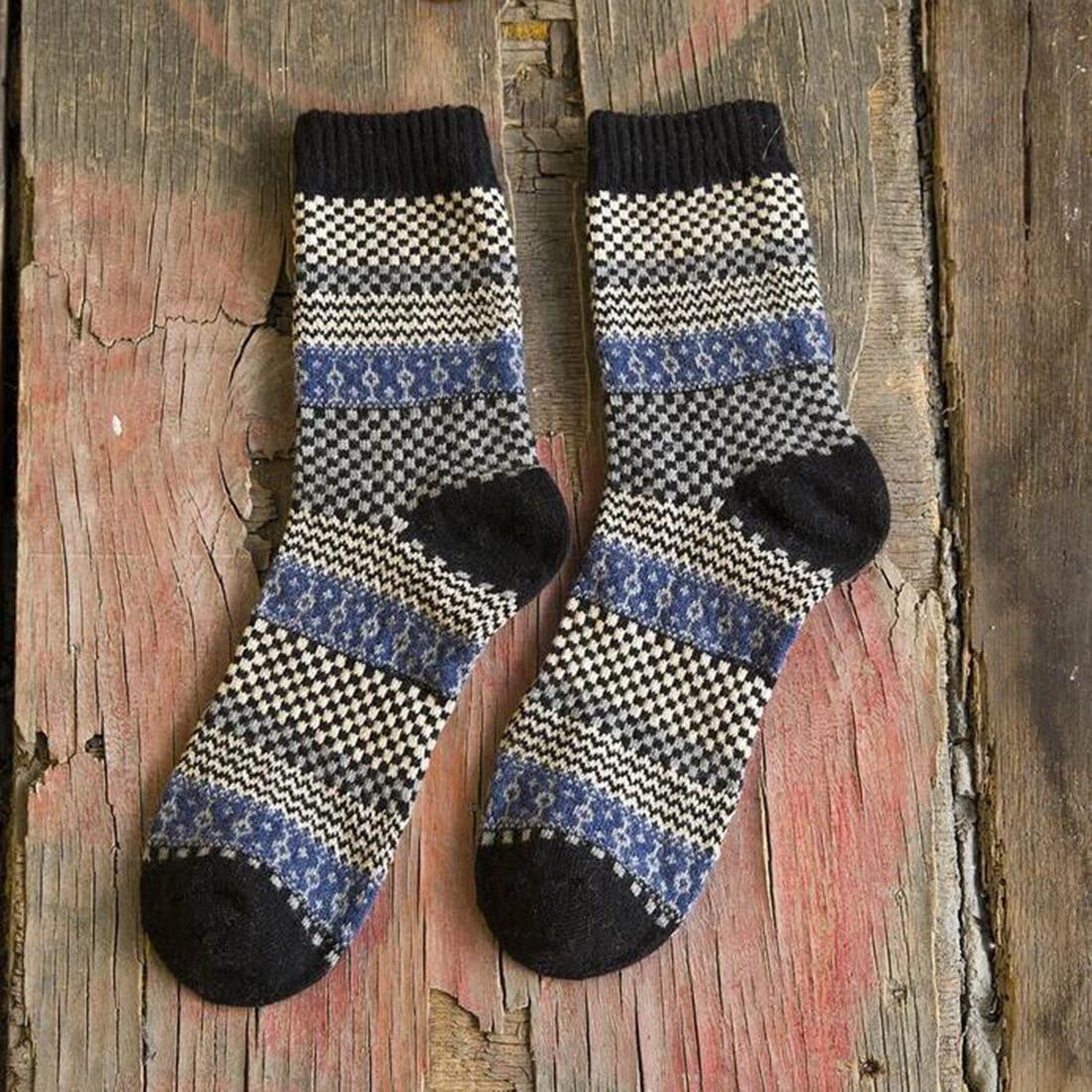 New Trendy 1Pair Wool Socks Men Thermal Winter Rabbit Wool Socks Male Thickening Socks Gift