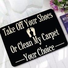 Новая искусственная кожа, забавный знак, Снимите вашу обувь