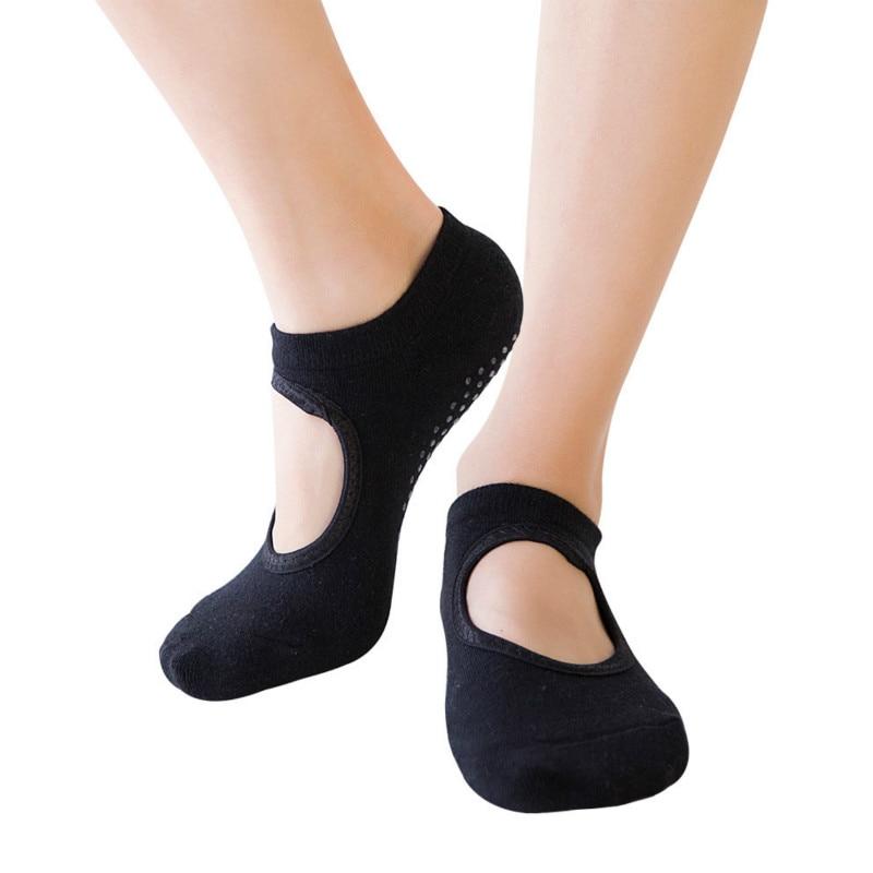 Women Yoga socks Wear-resistant anti-slip Backless yoga Breathable Thick cotton