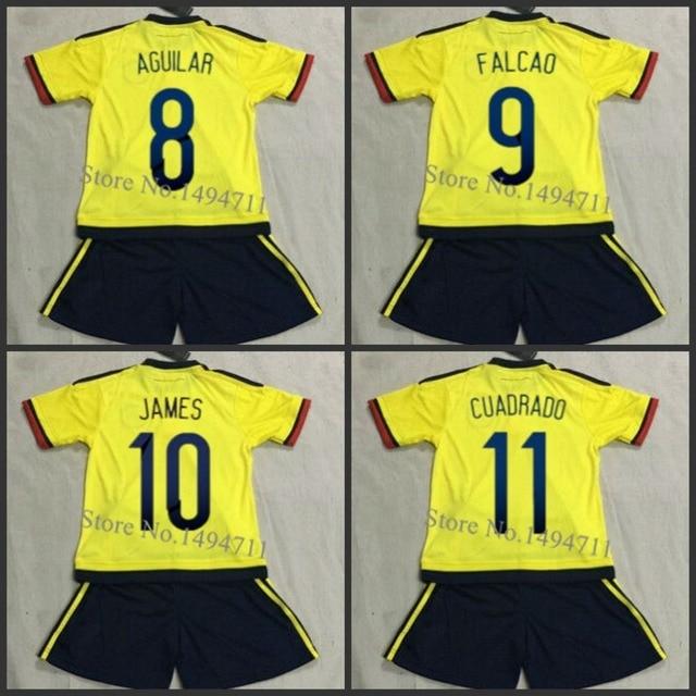 e0345f36f 15 16 Colombia home away FALCAO JAMES GUARIN Kids Football Uniform shirt