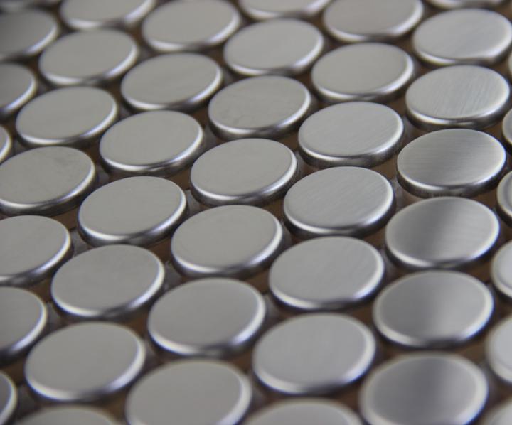 Heisser Runde Edelstahl Metall Mosaik Fliesen Kche Backsplash Badezimmer Dusche Hintergrund Dekorative Wand Papier