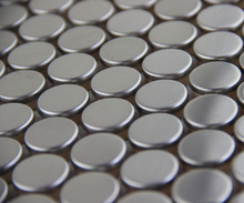 tile background metal round