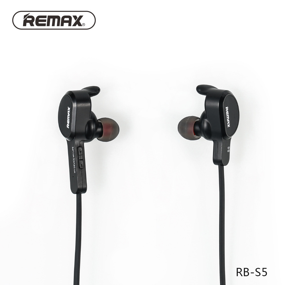 Original Remax RB-S5 S5 Wireless Earphone Sports Bluetooth V4.1 Headset Stereo Earphones Handsfree For iPhone iPad Xiaomi phones remax 2 in1 mini bluetooth 4 0 headphones usb car charger dock wireless car headset bluetooth earphone for iphone 7 6s android