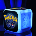 2016 hot cartoon game pokemon go toys 7 colors Ledclock pokemongo night light toys pikaku toys  action figures