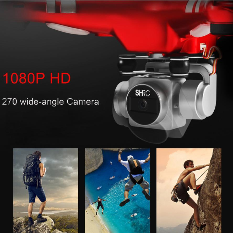 Newest Upgraded RC Quadcopter 5MP Wide Angle Lens 270 Degree Rotating HD Camera Drone WiFi FPV High configuration dropshipping yizhan i8h 4axis professiona rc drone wifi fpv hd camera video remote control toys quadcopter helicopter aircraft plane toy