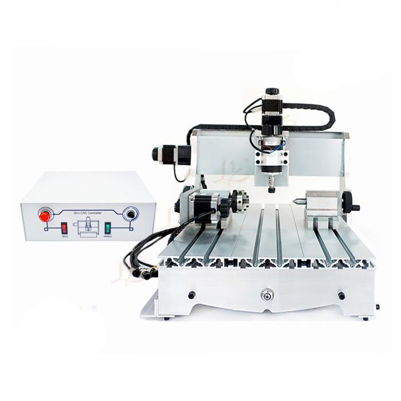 Mini CNC Router 3040 T-D300 milling Lathe machine with 300W DC power spindle motor, upgraded from CNC 3040 no tax mini desktop cnc milling engraving machine cnc 3020z d300 with ball screw and 300w spindle