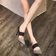 Women Shoes High Heels Brand Woman Pumps Spring Pointed Toe Black Ladies Dress Shoes Heels Women Party Shoes Chaussure Femme DE