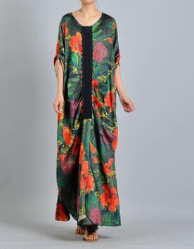 D'été Floral Longue P212 Dresss Imprimer Casual Élégant Femmes Vert XRwaqBB