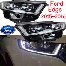 車のバンパーヘッドランプエッジのヘッドライト 2015 〜 2018y led の drl カーアクセサリー hid キセノンエッジフォグランプ