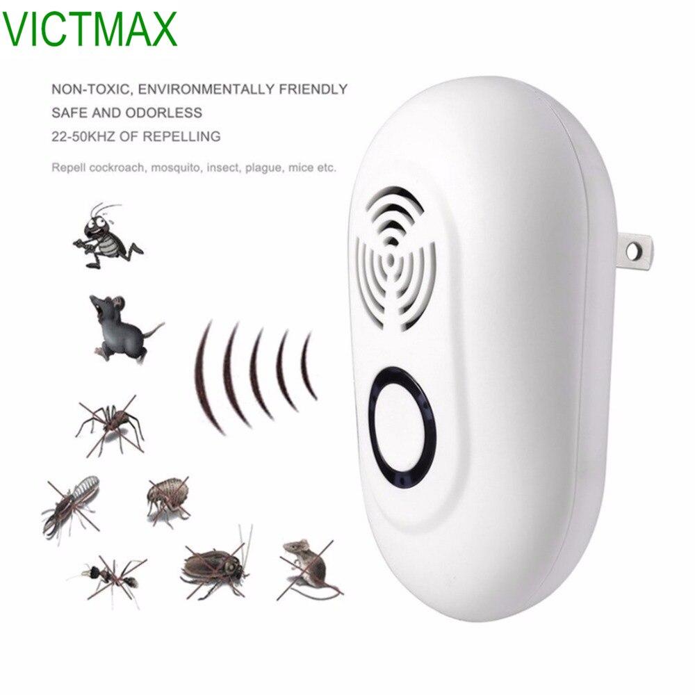 VICTMAX 3 W ultrasónico electrónico del parásito Multi-función ratones plagas insecto asesino rata ratón repelente