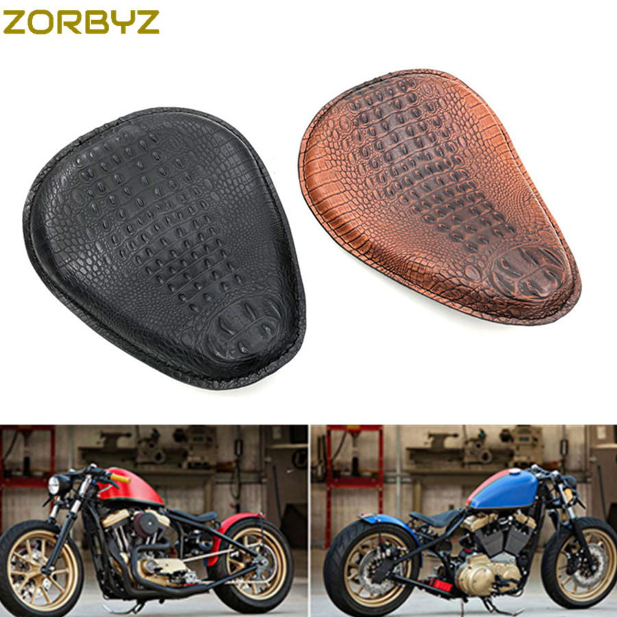 Cuir Noir Solo Selle Siège /& Ressorts /& Support Pour Harley Honda Suzuki Chopper