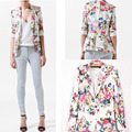 Casual Floral Blazer Femme Feminino Suit Women's Blazers and Jackets 2016 Bleiser Flower Coats Americanas Mujer Female Clothing