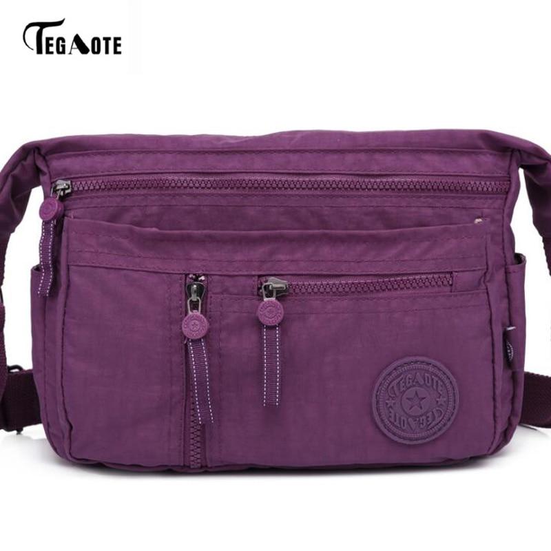 TEGAOTE Satchel Handbag Crossbody-Bag Messenger Multi-Zipper Mini Women Pocket Cellphone-Pouch