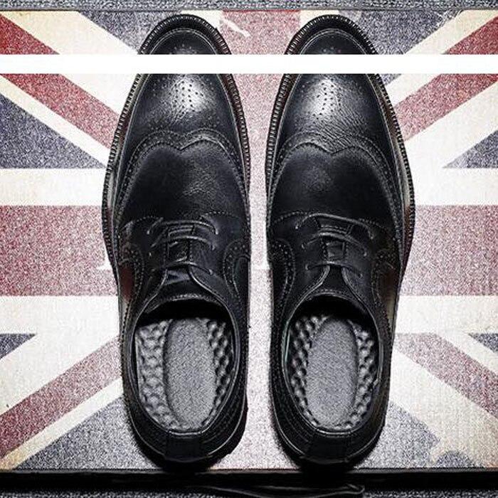 2018 Mode Herren Oxfords Vintage Kleid Schuhe Bussiness Hochzeit Schuh Schwarz Mann Größe 45 46 47 48 Men0007