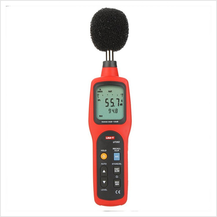 UNI-T UT352 Digital Sound Level Meters 30~130dB 31.5H~8000Hz Noise Monitor Testers Frequency 31.5Hz~8000Hz with Alarm Function uni t ut353 mini digital sound level meters 30 130db instrumentation noise decibel monitoring testers metro diagnostic tools