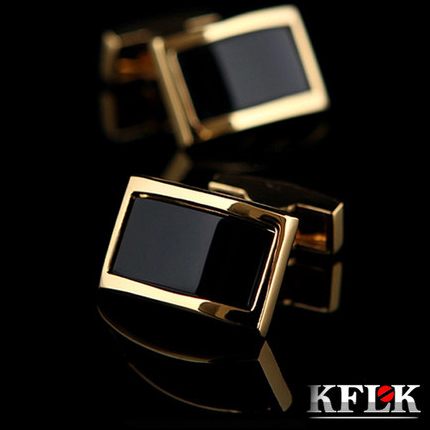 2018 KFLK Luxury shirt cufflinks for men's Brand cuff buttons Gold cuff links gemelos High Quality wedding abotoaduras Jewelry