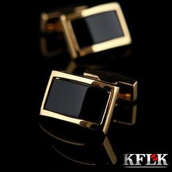 2018 KFLK Luxury shirt cufflinks for men's Brand cuff buttons Gold cuff links gemelos High Quality wedding abotoaduras Jewelry