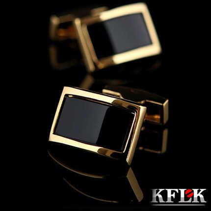 2020 KFLK lüks gömlek erkekler için kol düğmeleri marka manşet düğmeleri altın kol düğmeleri gemelos yüksek kalite düğün abotoaduras takı