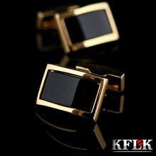 Kflk роскошные запонки для рубашки мужские брендовые на пуговицах